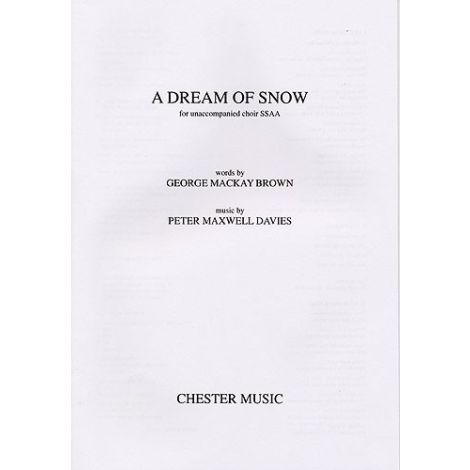 Peter Maxwell Davies: A Dream of Snow