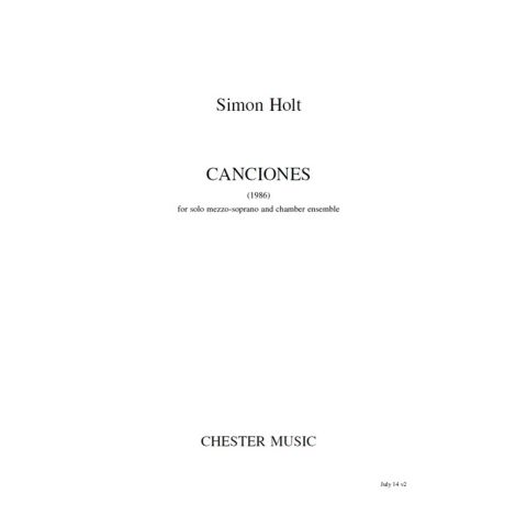 Simon Holt: Canciones (Full Score)