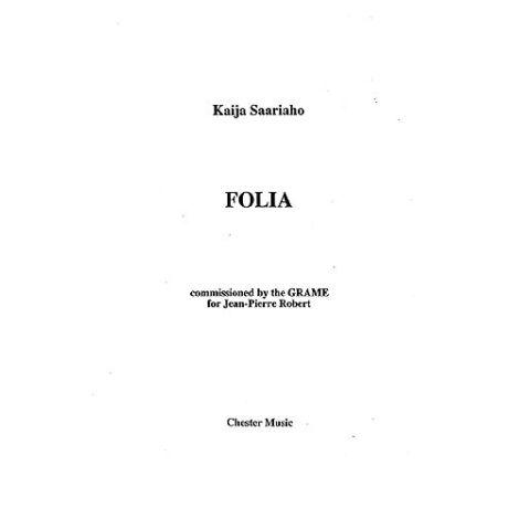 Kaija Saariaho: Folia (Performing Score)