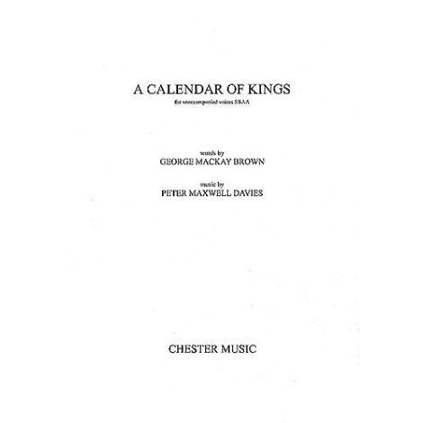 Peter Maxwell Davies: A Calendar Of Kings (SSAA)