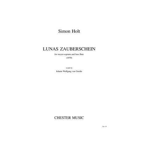 Simon Holt: Lunas Zauberschein (Mezzo-Soprano/Bass Flute)