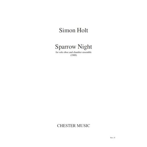 Simon Holt: Sparrow Night (Study Score)
