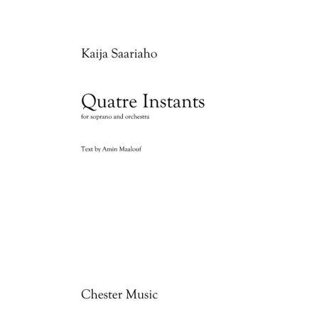 Kaija Saariaho: Quatre Instants (Soprano/Orchestra)