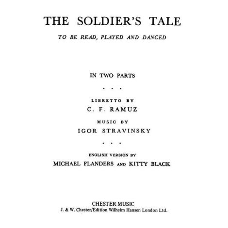 Igor Stravinsky: Soldiers Tale Libretto (English)
