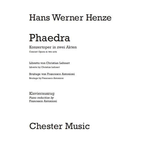 Hans Werner Henze: Phaedra (Vocal Score)