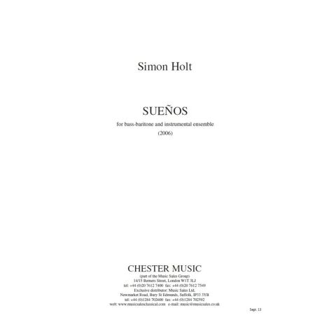 Simon Holt: Sue闁汇垽鍏弒
