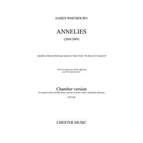 James Whitbourn: Annelies (Chamber Version) - Parts