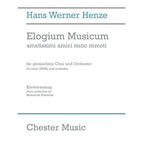 Hans Werner Henze: Elogium Musicum (Full Score)