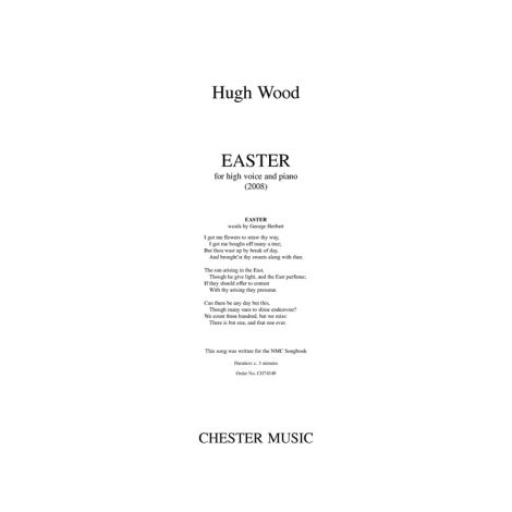 Hugh Wood: Easter - High Voice/Piano