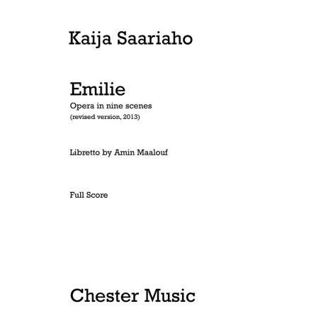 Kaija Saariaho: Emilie (Full Score)