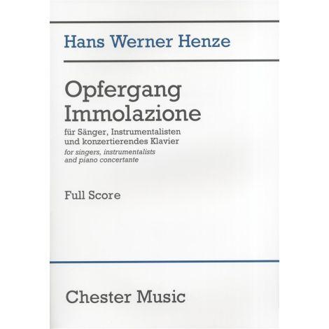 Hans Werner Henze: Opfergang Immolazione (Full Score)