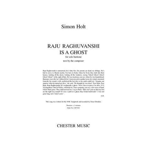 Simon Holt: Raju Raghuvanshi Is A Ghost - Solo Baritone