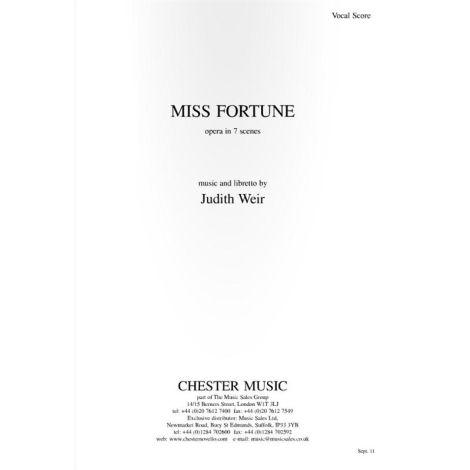 Judith Weir: Miss Fortune - Vocal Score