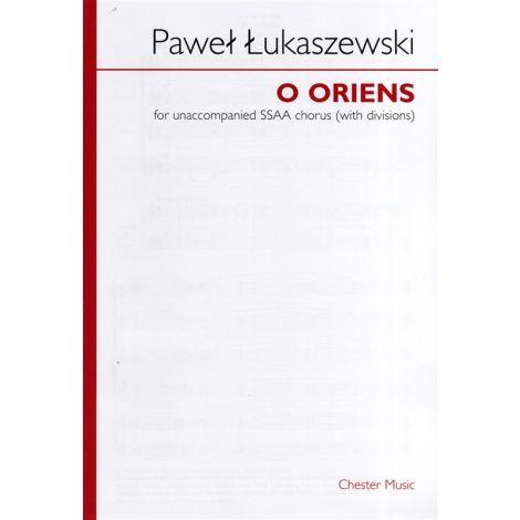 Pawe闂 闂佸ジ鈧稖寮磌aszewski: O Oriens (SSAA)