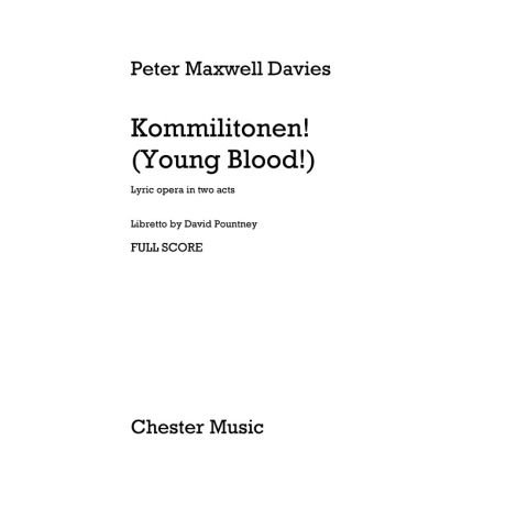 Peter Maxwell Davies: Kommilitonen! (Young Blood!) - Full Score