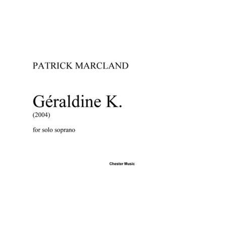 Patrick Marcland: G闂佽偐鍘у畵鎭唋dine K.