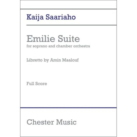 Kaija Saariaho: Emilie Suite - Full Score