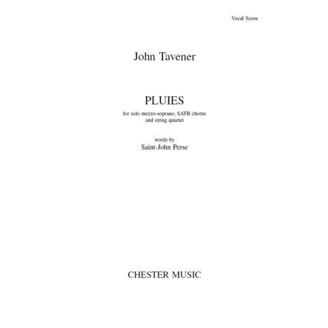 John Tavener: Pluies (Vocal Score)