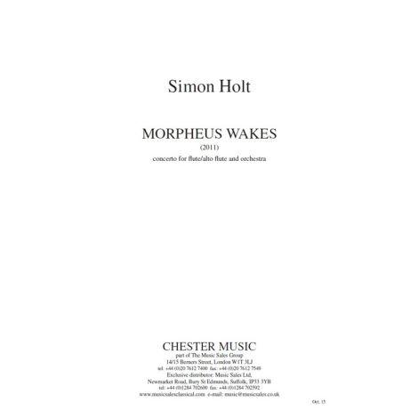 Simon Holt: Morpheus Wakes (Study Score)
