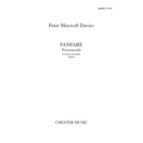 Peter Maxwell Davies: Fanfare; Portsmouth (Parts)