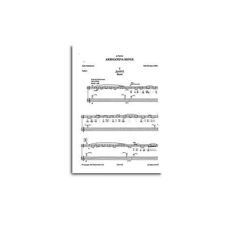 John Tavener: Akhmatova Songs (1995- Parts)