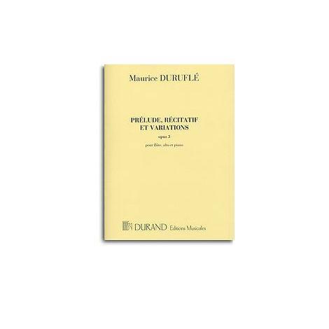Maurice Durufle: Prelude, Recitatif Et Varations Op.3