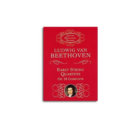 Beethoven: String Quartets Op.18 (Dover Miniature Score)
