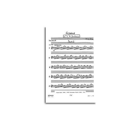 Glass: Gradus For Soprano Saxophone