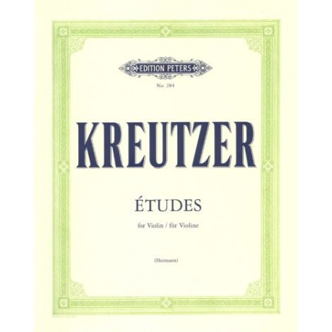 Kreutzer: 42 Studies (Caprices) for Violin Solo (Edition Peters)