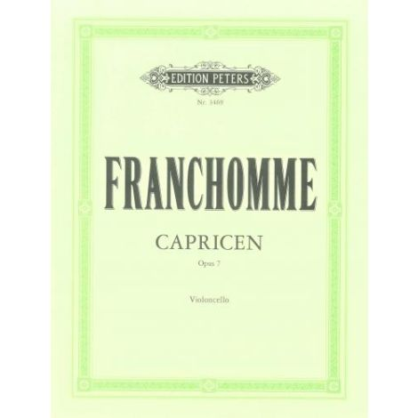 Franchomme: 12 Caprices Op.7 (Edition Peters)