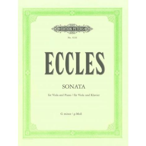 Eccles: Sonata No. 11 in G minor (Viola & Piano) (Edition Peters)