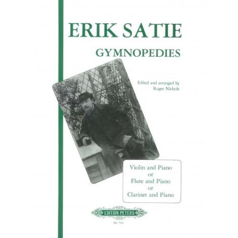 Satie: 3 Gymnop?dies (Violin/Flute/Clarinet & Piano) (Edition Peters)