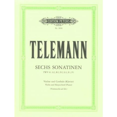 Telemann: 6 Sonatinas Violin and Piano (Edition Peters)