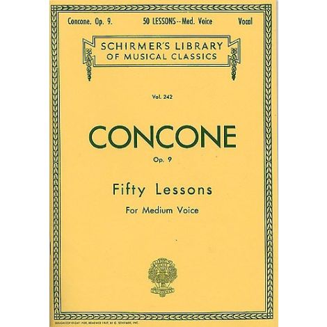 Giuseppe Concone: Fifty Lessons Op.9 For Medium Voice