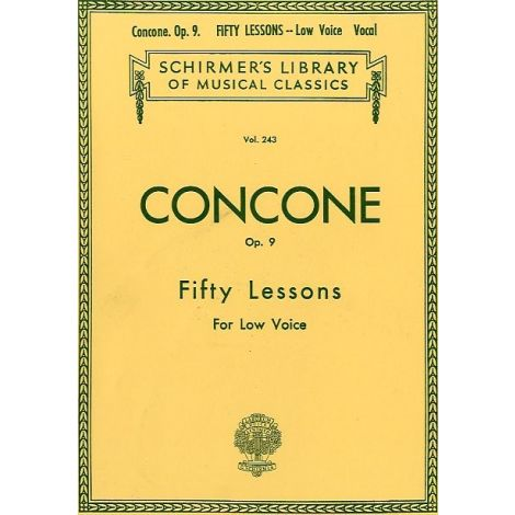 Giuseppe Concone: Fifty Lessons Op.9 For Low Voice