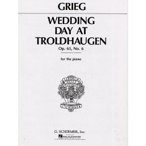 Edvard Grieg: Wedding Day At Troldhaugen (Piano Solo)