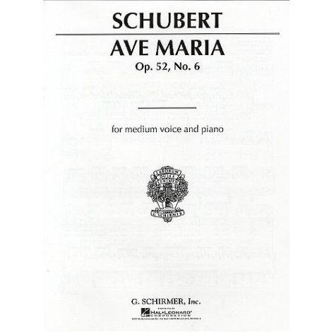 Franz Schubert: Ave Maria Op.52 No.6 (Medium Voice)