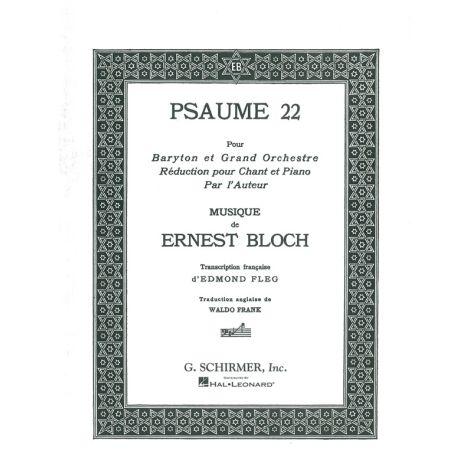 Ernest Bloch: Psaume 22 (Baritone/Piano)