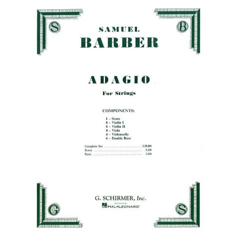 Samuel Barber: Adagio For Strings (Score/Parts)