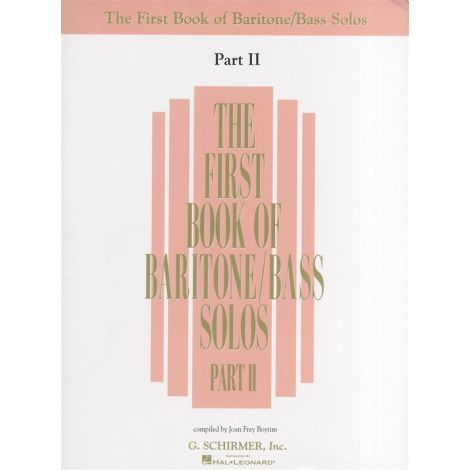 The First Book Of Baritone/Bass Solos Part II