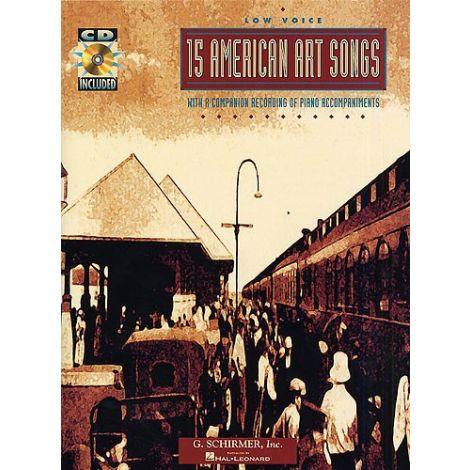 15 American Art Songs (Low Voice)