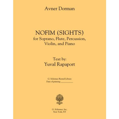 Avner Dorman: Nofim (Sights)