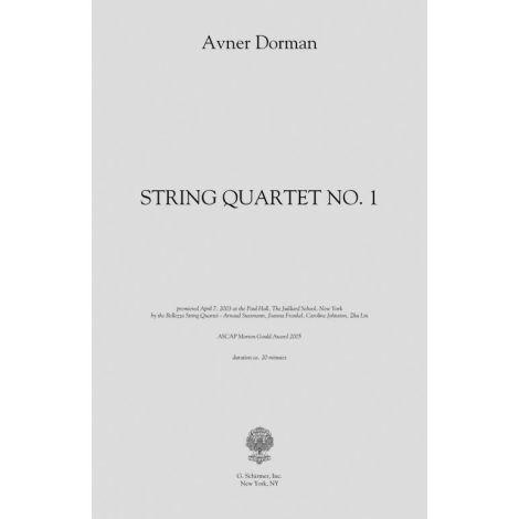 Avner Dorman: String Quartet No. 1