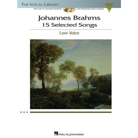 Johannes Brahms: 15 Selected Songs - Low Voice (Book & CD)