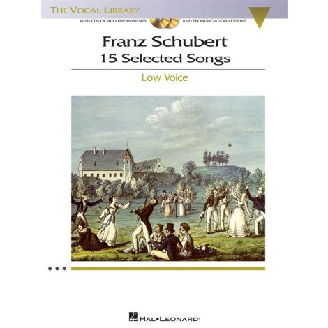 Franz Schubert: 15 Selected Songs - Low Voice (Book And CDs)