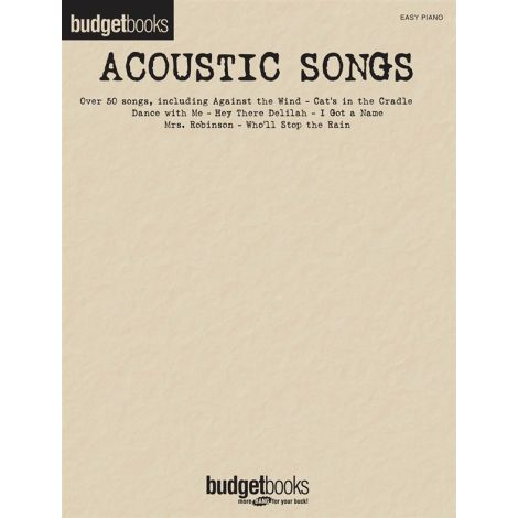 Budgetbooks: Acoustic Songs