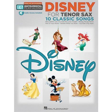 Tenor Sax Easy Instrumental Play-Along: Disney (Book/Online Audio)