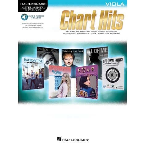 Instrumental Play-Along: Chart Hits - Viola (Book/Online Audio)