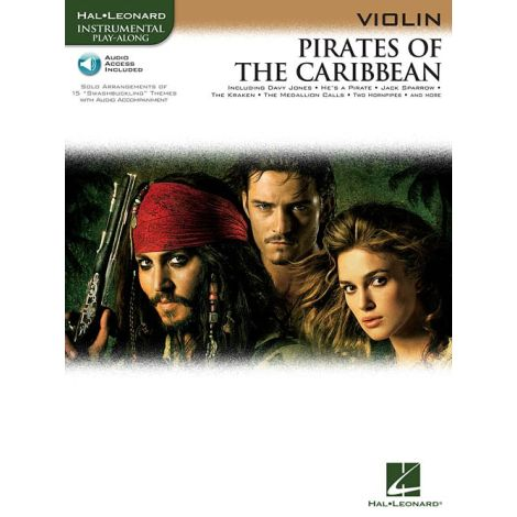 Klaus Badelt: Pirates Of The Caribbean (Violin) (Book/Online Audio)