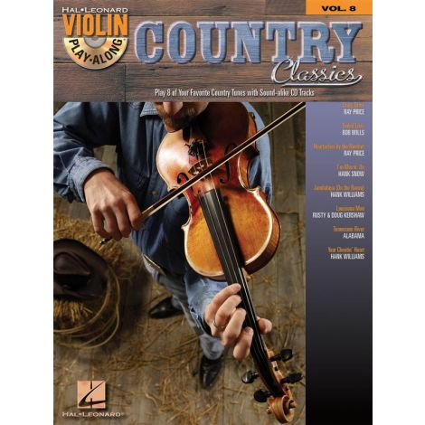 Violin Play-Along Volume 8: Country Classics